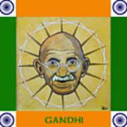 Gandhi Portrait Art Print
