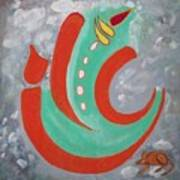 Ganesha Symbolic Art Print