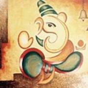 Ganesha's Blessing Art Print