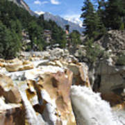 Ganges In Gangotri Close To Its Source Art Print