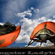Gangster Ladybugs Nature Gone Mad Art Print