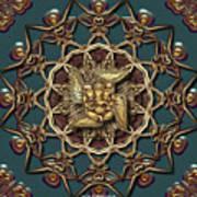 Ganpati Mandala  Art Print
