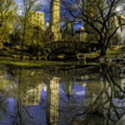 Gapstow Bridge In Central Park Art Print