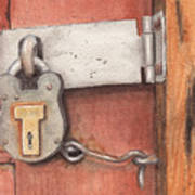 Garage Lock Number Four Art Print