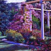 Garden Arbor Art Print by David Lloyd Glover