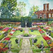 Garden At Hampton Court Palace Art Print