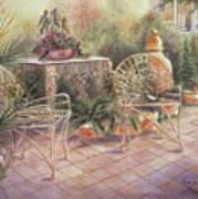 Garden At Linwood  Art Print