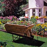 Garden At Patio Lane Art Print
