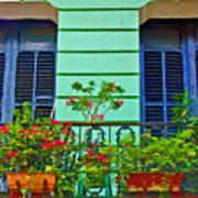 Garden Balcony Art Print