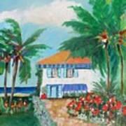 Garden Beach House Art Print