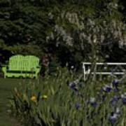 Garden Bench Green Art Print