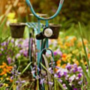 Garden Bicycle Art Print