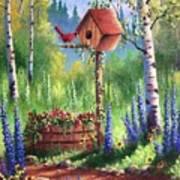 Garden Birdhouse Art Print