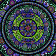 Garden Buddha Mandala Art Print
