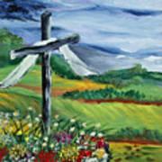 Garden Cross Art Print
