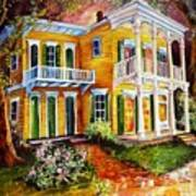 Garden District Home  Art Print