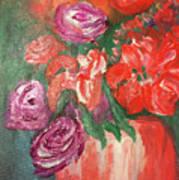 Garden Flowers In Vase 1 Art Print