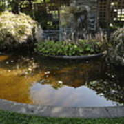 Garden Fountain Pond Art Print