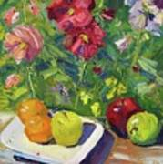 Garden Fruit And Flowers Art Print