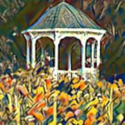 Garden Gazebo Watercolor Art Print