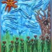 Garden Of Eden Nature Overwhelming Itself Art Print