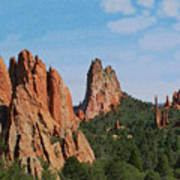 Garden Of The Gods Colorado De  Art Print