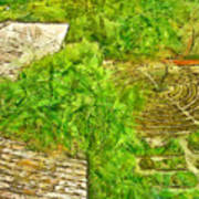 Garden Of The Simple Art Print