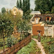 Garden Path In Louveciennes Art Print