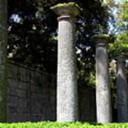 Garden Pillars Art Print
