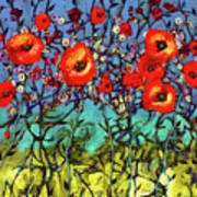 Garden Rendezvous Art Print