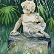 Garden Satyr Art Print