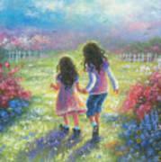 Garden Sisters Art Print