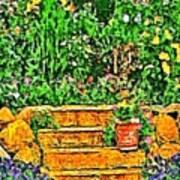 Garden Sketches 1 Art Print