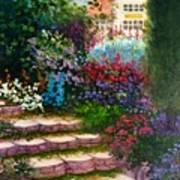Garden Steps Art Print