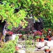 Garden Terrace Art Print