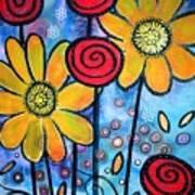Garden View 3 Art Print