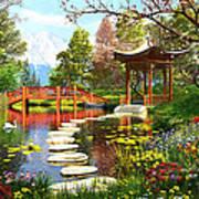 Gardens Of Fuji Art Print