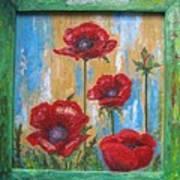 Gardens Poppy Art Print