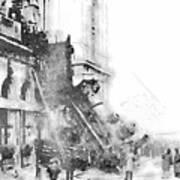 Gare Montparnasse 1895 Art Print