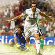 Gareth Bale Celebrates His Goal  Art Print