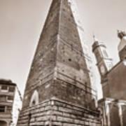 Garisenda Tower In Bologna Art Print