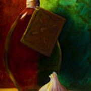 Garlic And Oil Art Print by Shannon Grissom