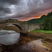 Garron Bridge Sunset Art Print