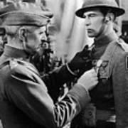 Gary Cooper Getting A Medal Of Honor As Sergeant York 1941 Art Print