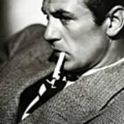 Gary Cooper Smoking C.1935 Art Print