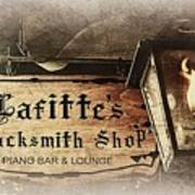 Gas Light At Lafitte's Blacksmith Shop Art Print