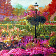 Gas Light In The Garden Art Print