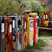 Gas Pump Conga Line In New Mexico Art Print