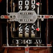 Gas Pump Meter Art Print