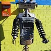 Gas Station Robot Art Print